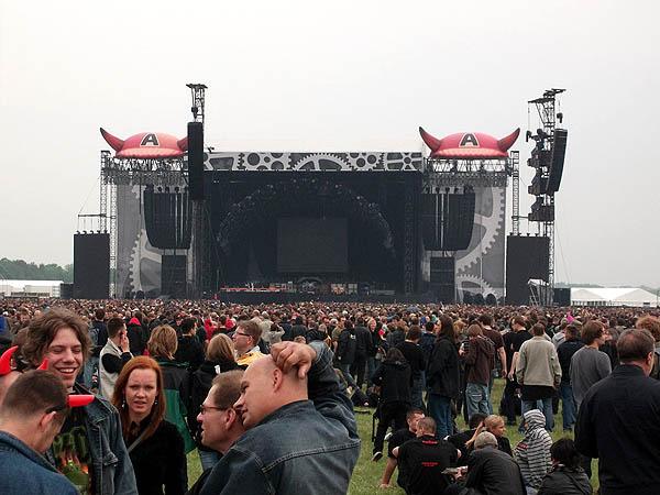 Scena przed koncertem AC/DC