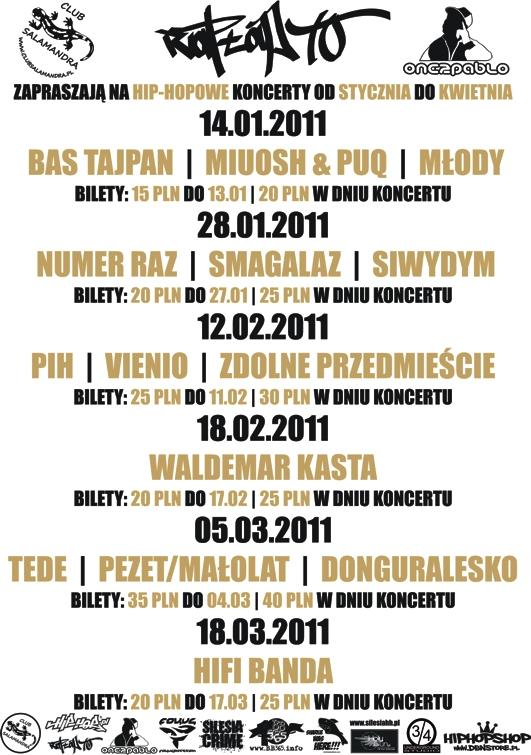 Koncerty w Salamandrze w Bielsku-Białej