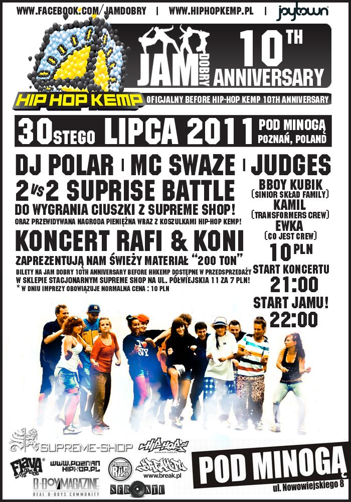 Before party przed festiwalem Hip Hop Kemp w Poznaniu