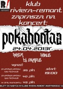 Koncert Pokahontaz w Warszawie