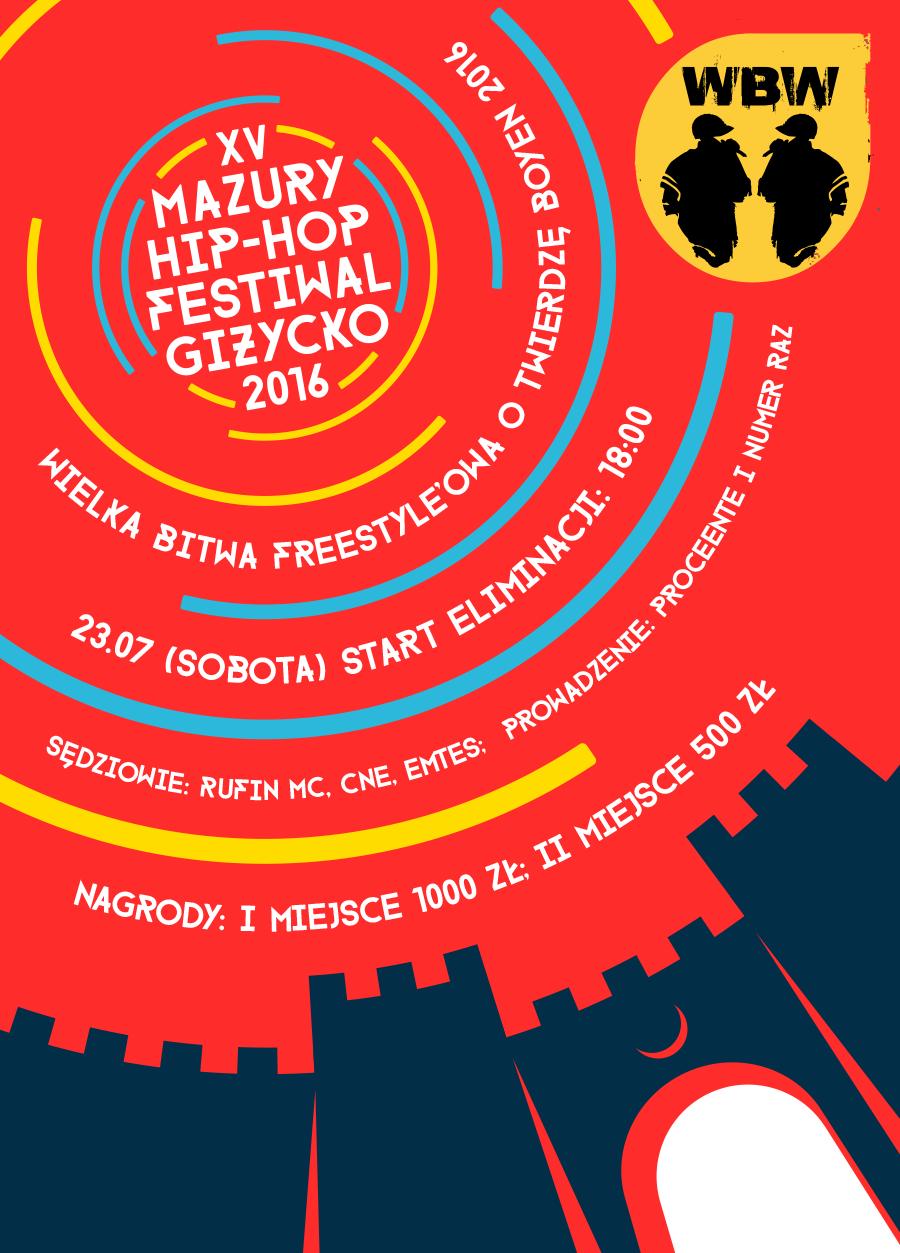 Wielka Bitwa Freestyle'owa o Twierdzę Boyen na Mazury Hip-Hop Festiwal 2016