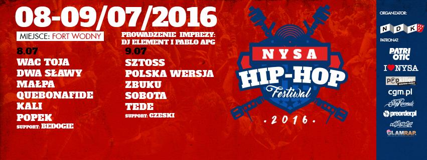 Time line Nysa Hip - Hop Festiwal 2016
