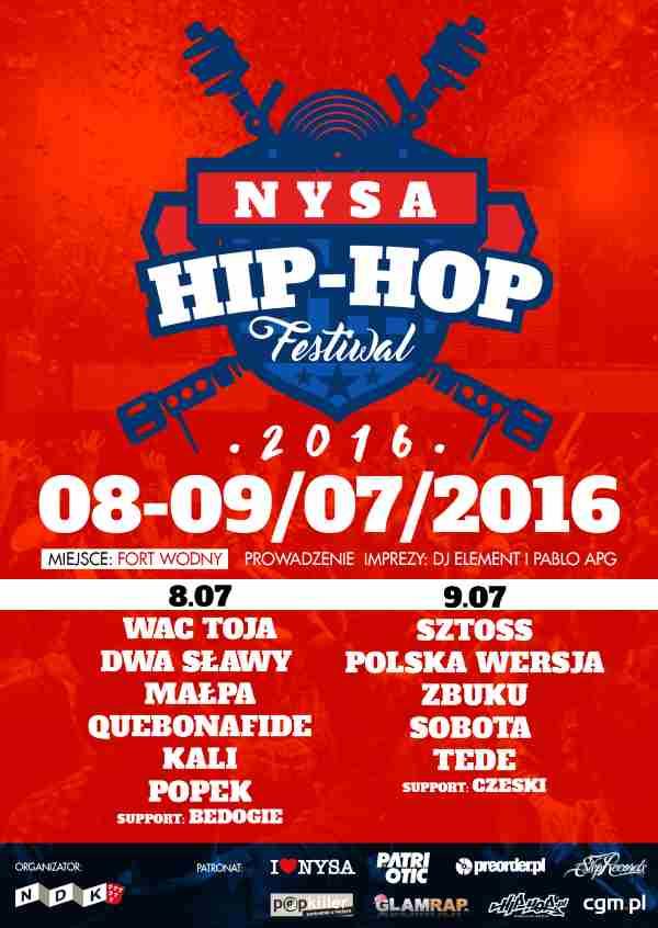 Nysa Hip-Hop Festiwal 8-9 lipca 2016