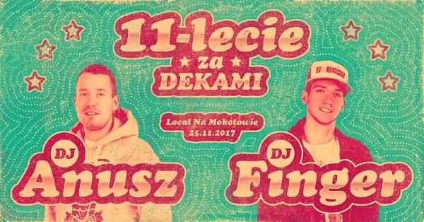 11 lat za deckami – Anusz i Finger świętują ponad dekadę działalności DJ-skiej!