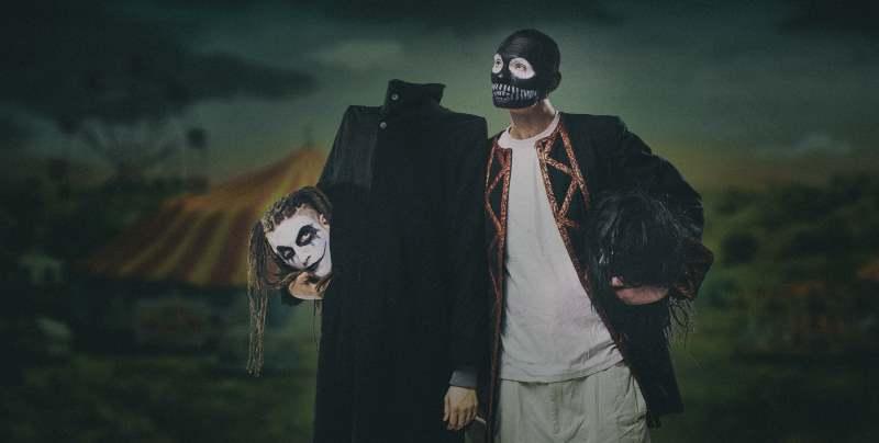 Od lewej - Kleszcz i DiNO, duet hip-hopowych freakow