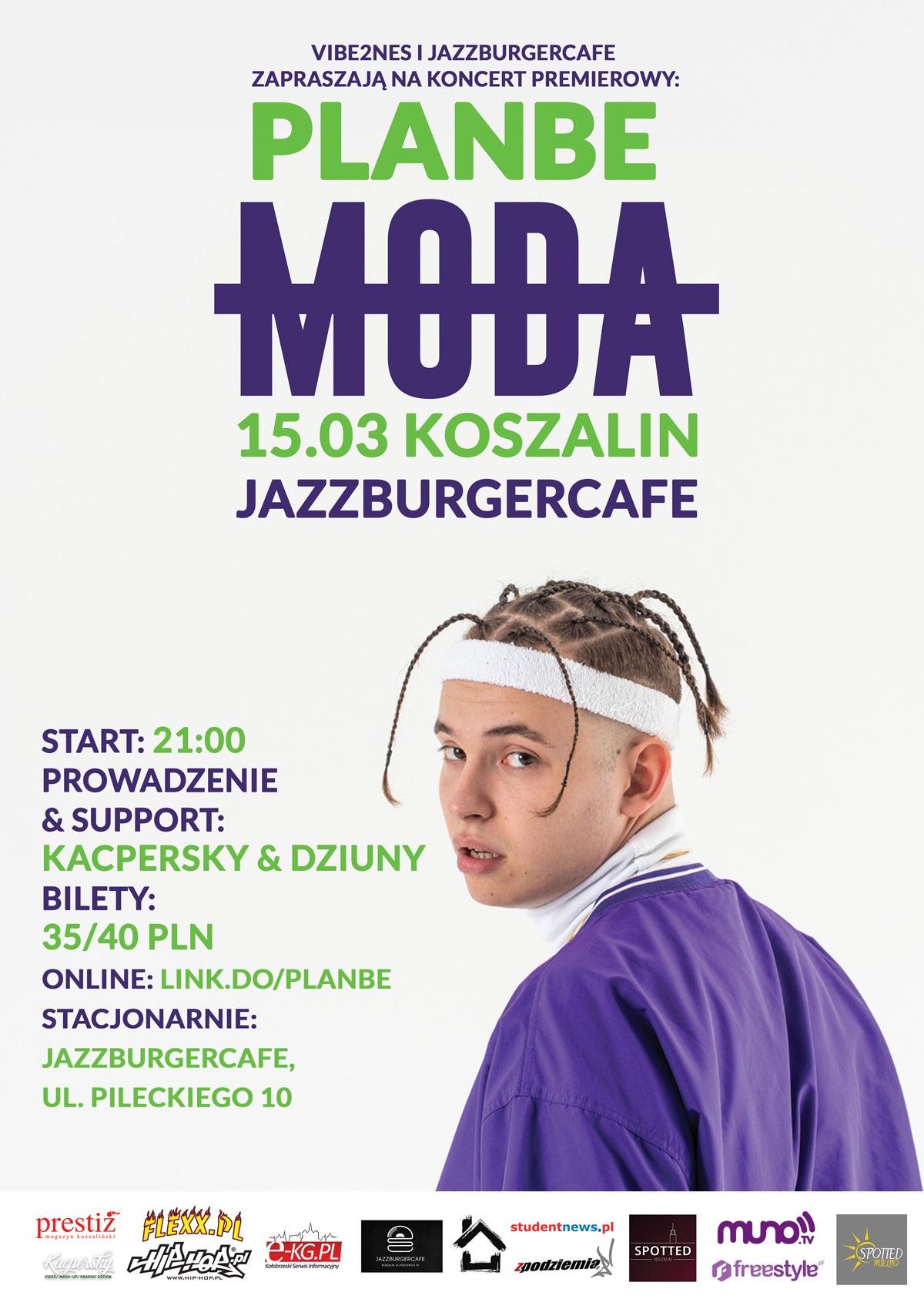 Koncert premierowy rapera PLANBE w Koszalinie