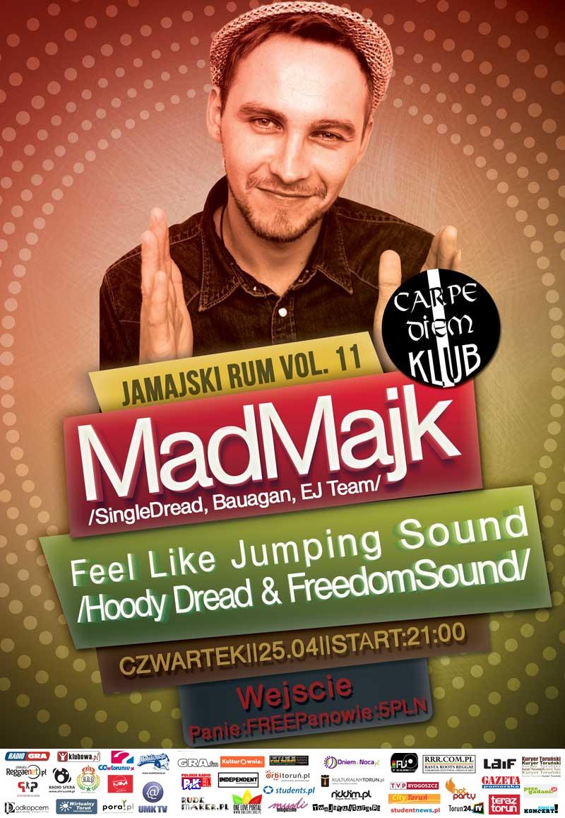 Jamajski Rum 11 - koncert - MadMajk (SingleDread, Bauagan, EJ Team)