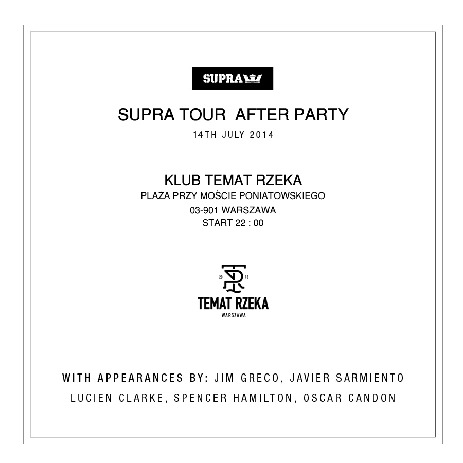Supra Tour 2014 - Afterparty