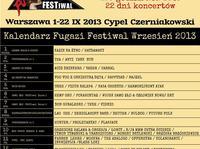 Mocne zespoły na FUGAZI FESTIWAL 2013