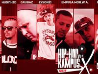 Vienio, Pyskaty, Empiria Mor W.A., Parzel, Łysonżi Dżonson oraz Risky na 10 urodzinach Hip Hop Kampusa!