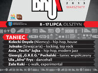 Warsztaty Taneczne na Bruk Festivalu 2013