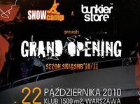 SNOWCAMP & BUNKIERstore - Grand Opening