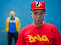"DNA kolor ""Warszawa"" Blod Red/ Warsaw Sun Yellow - T-shirt"