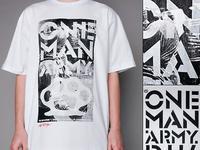 """T-shirt """"One Man Army"""" Biały DTS 190"""